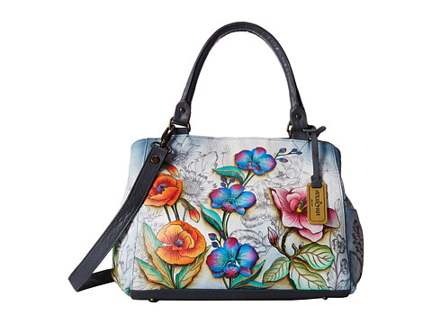 Anuschka Handbags 528 Triple Compartment Large Satchel