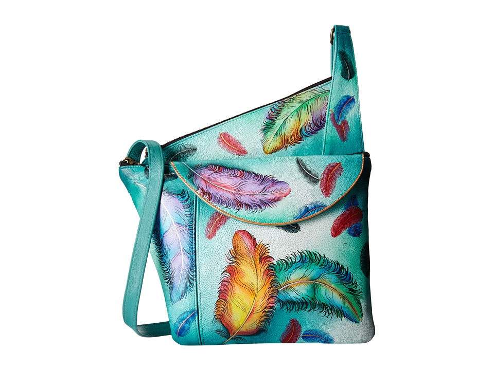 Anuschka Handbags - 552 (Floating Feathers) Handbags