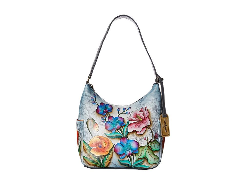Anuschka Handbags - 382 Classic Hobo With Side Pockets