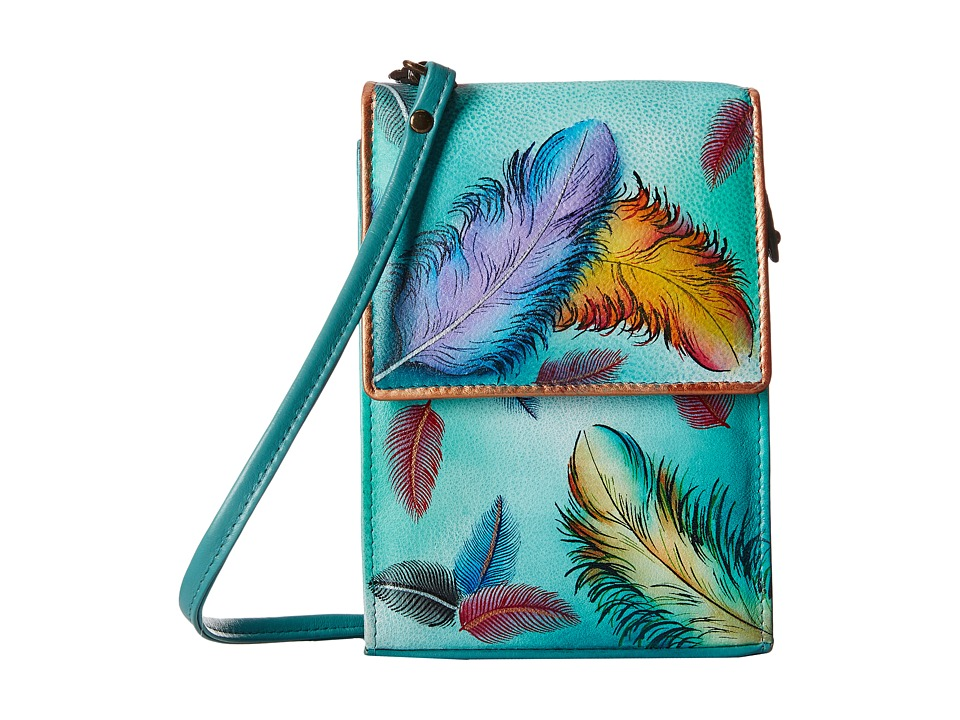 Anuschka Handbags - 412 (Floating Feathers) Cross Body Handbags