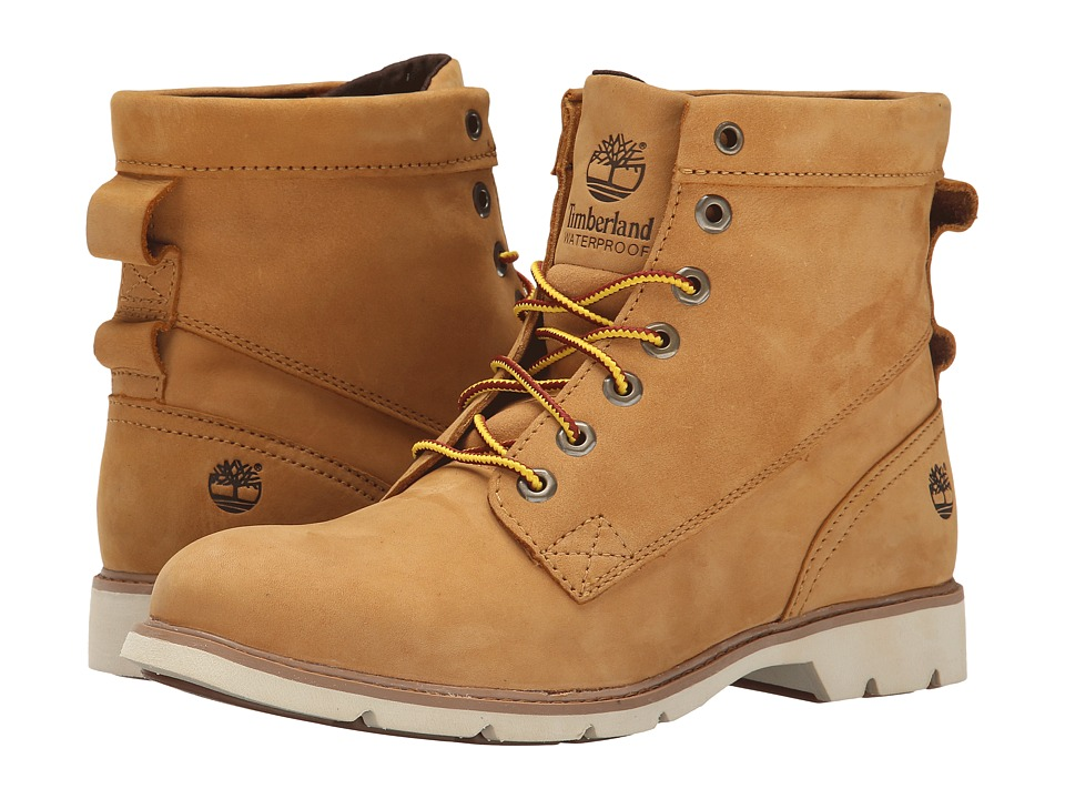 Timberland - Bramhall 6 Lace-Up Waterproof Boot (Wheat Nubuck) Women