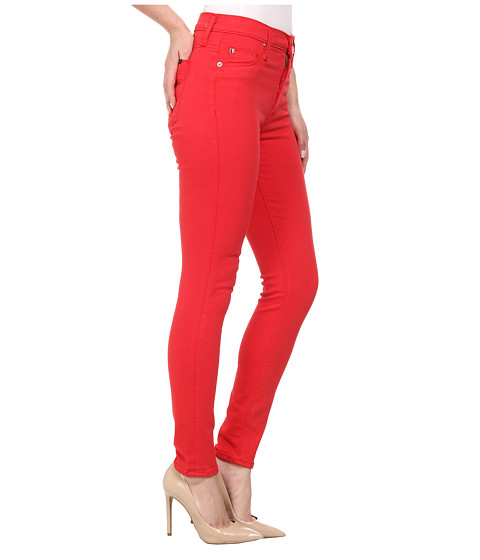 High waist super skinny ankle jeans in larkspur red larkspur red 6pm