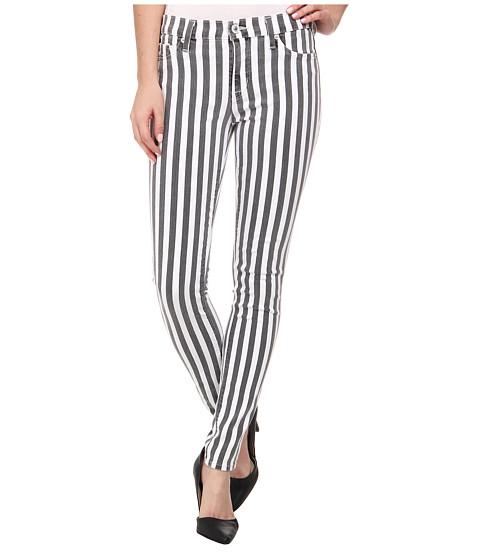 Hudson Nico Super Skinny Mid Rise Jeans in City Stripe