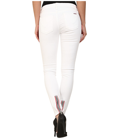 Hudson Custom Chimera Zipper Super Skinny Jeans in White 2 - 6pm.com