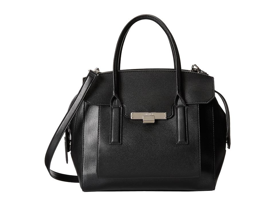 Nine West - Strong Angles Large Satchel (Black) Satchel Handbags