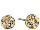 LAUREN Ralph Lauren Sandy Cay Small Hammered Disk w/ Stones Stud Earrings