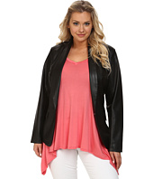 Mynt 1792 - Plus Size Faux Leather Blazer