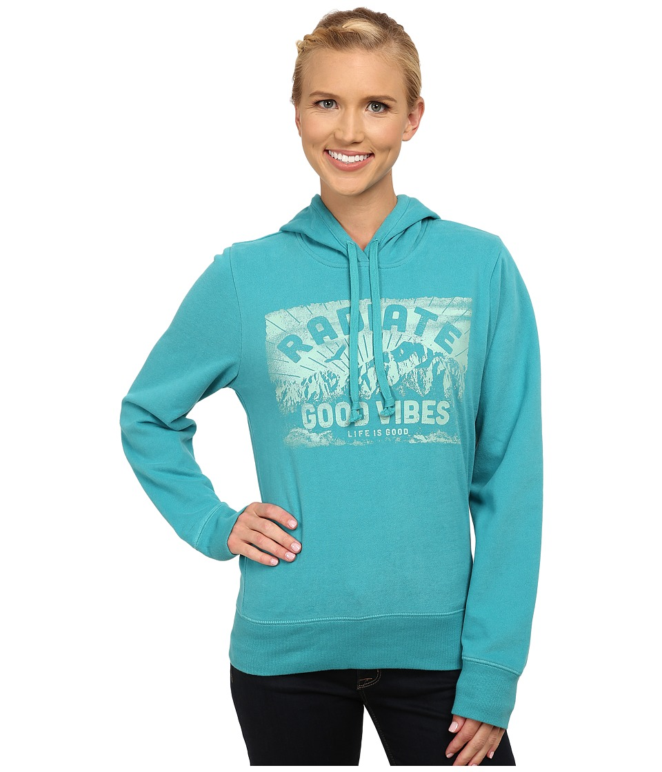 Life is good Go To Hoodie Teal Blue Womens Sweatshirt