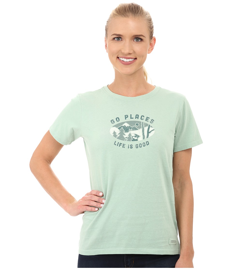 Life is good Crusher Tee Go Places Oval/Minty Green Womens T Shirt