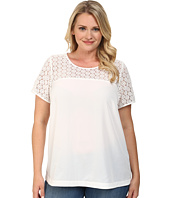 Mynt 1792 - Plus Size Short Sleeve Boat Neck Top