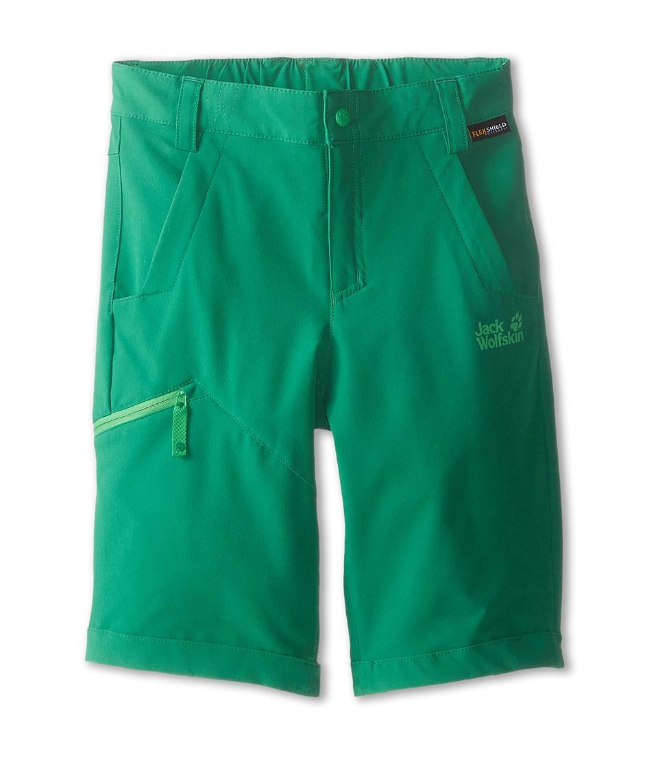 Jack Wolfskin Kids Activate Soft Shell Shorts Big Kid Cucumber Green Kids Shorts