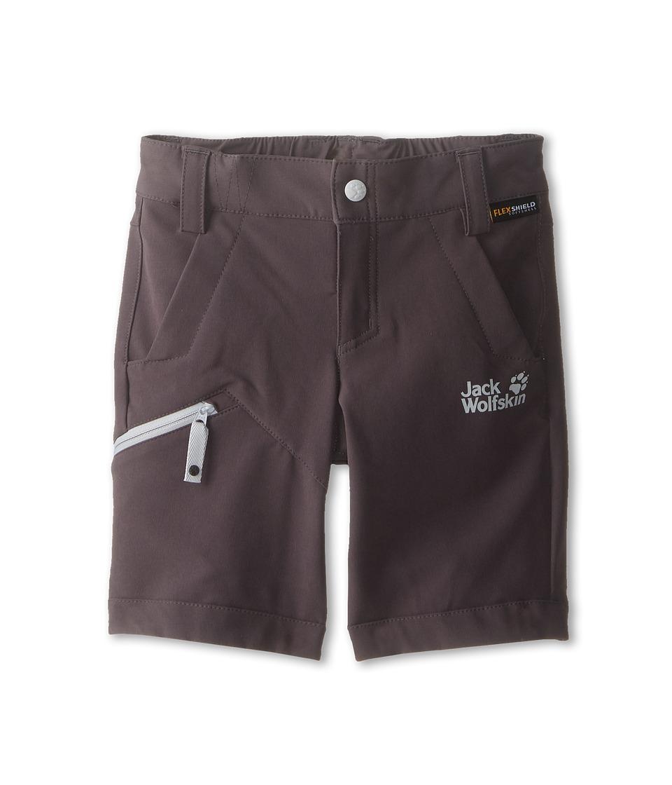 Jack Wolfskin Kids Activate Soft Shell Shorts Toddler/Little Kid/Big Kid Dark Steel Kids Shorts