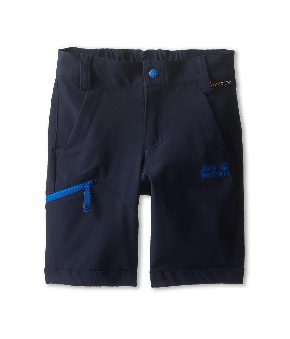Jack Wolfskin Kids Activate Soft Shell Shorts Toddler/Little Kid/Big Kid Night Blue Kids Shorts