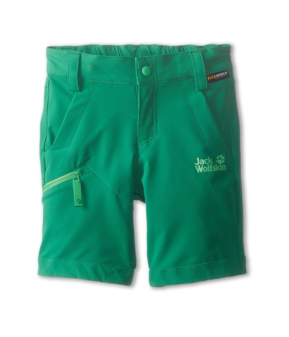 Jack Wolfskin Kids Activate Soft Shell Shorts Toddler/Little Kid/Big Kid Cucumber Green Kids Shorts