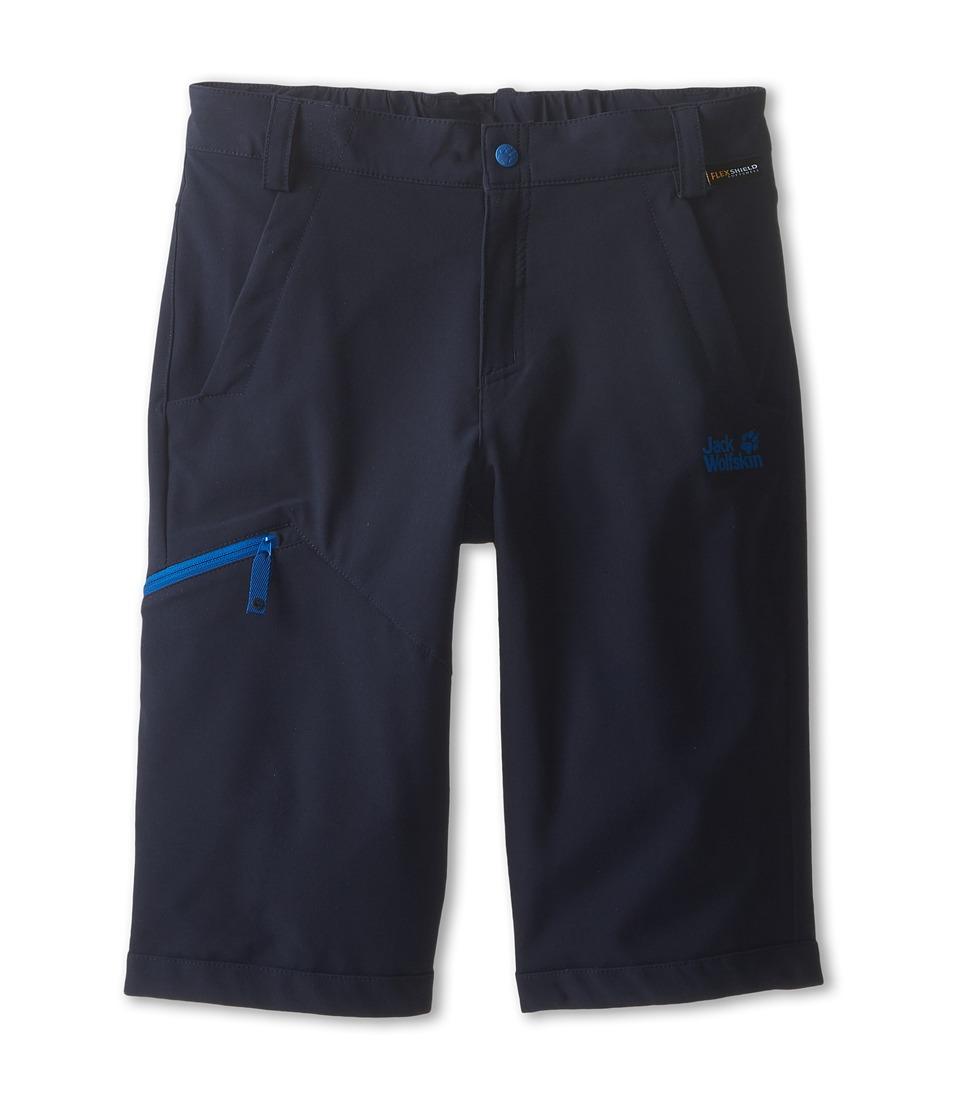 Jack Wolfskin Kids Activate Soft Shell Shorts Big Kid Night Blue Kids Shorts