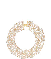 LAUREN Ralph Lauren - Pretty In Pearls 11 Row Pearl & Small Faceted Stones Drama w/ Foldover Closure Necklace