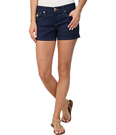 True Religion - Keira Low Rise Sanded Cobalt Shorts