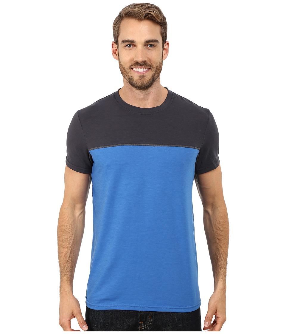 Prana Ridge Tech Tee Classic Blue Mens Short Sleeve Pullover