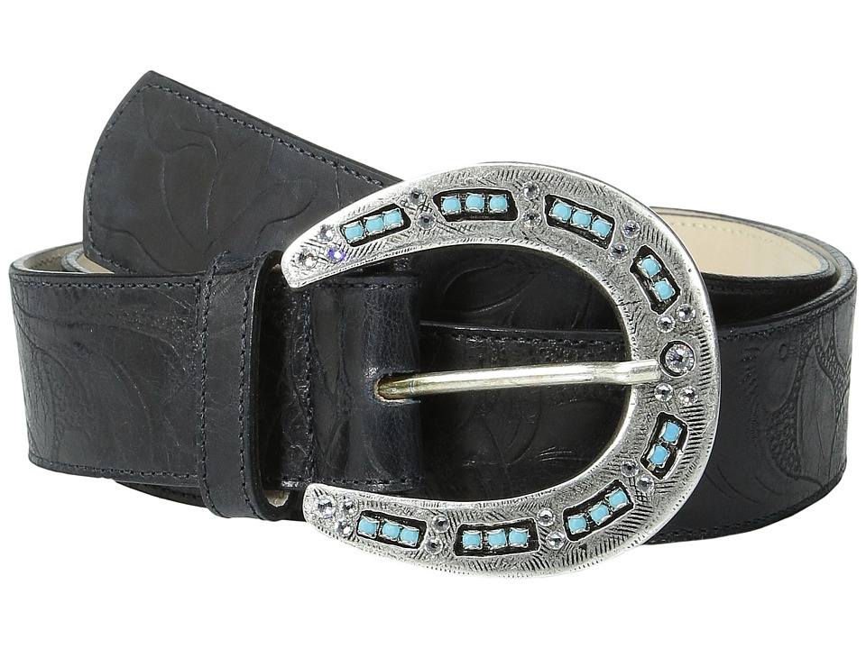 Leatherock 1346 Tooled Black Womens Belts