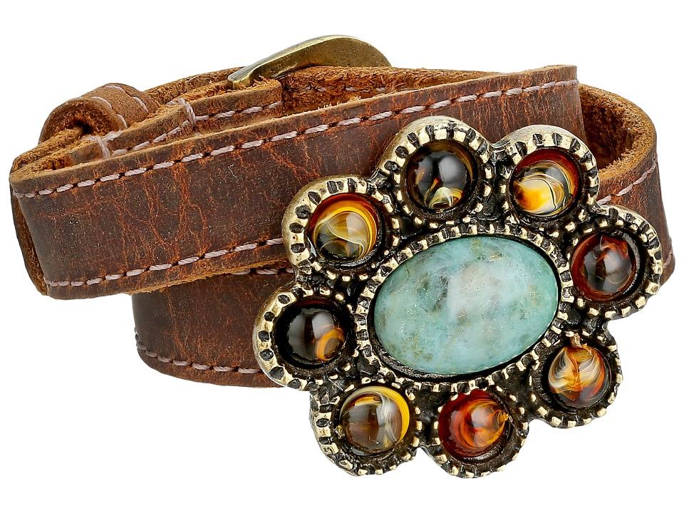 Leatherock B645 Tobacco Bracelet