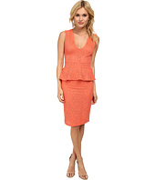 BCBGMAXAZRIA - Juliene Dress with Deep V and Peplum