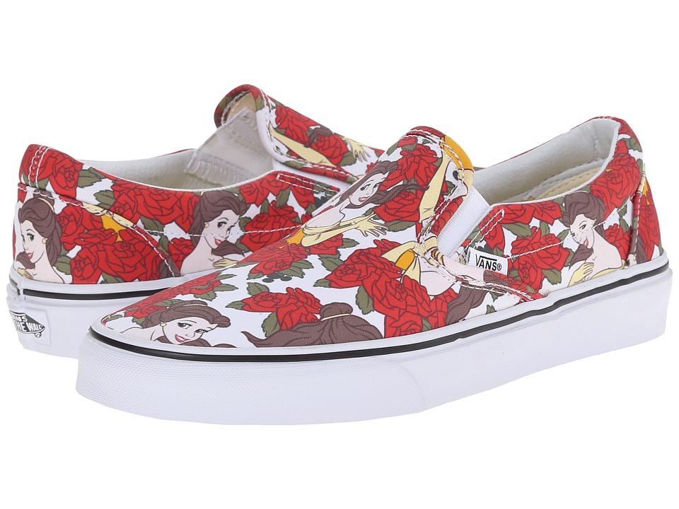 Vans - Disney Classic Slip-On ((Disney) Belle/True White) Skate Shoes