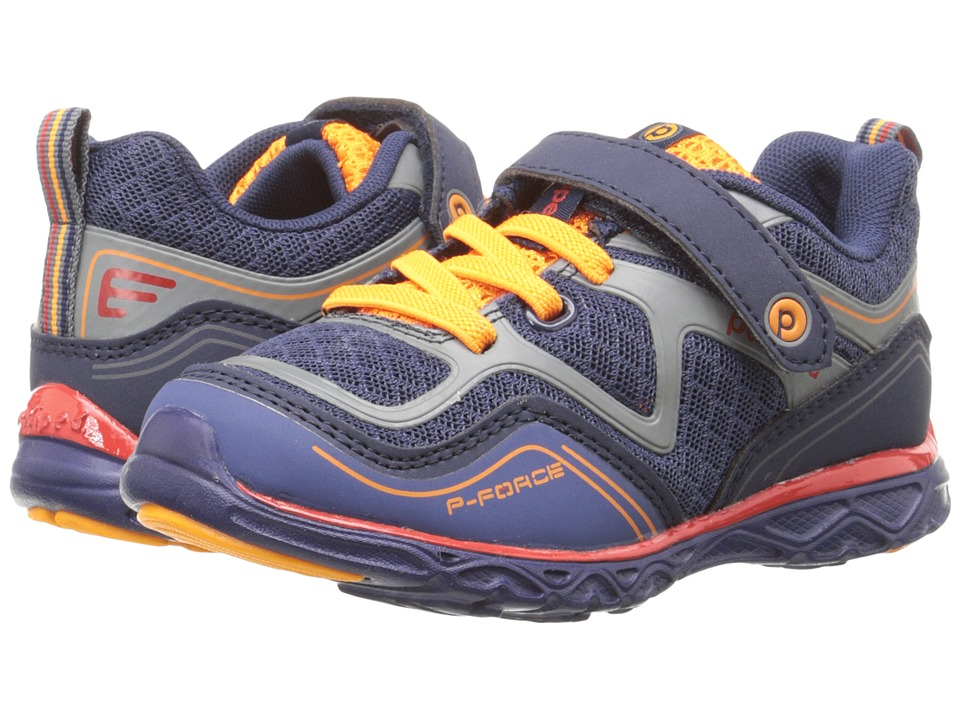 pediped Force Flex (Toddler/Little Kid) (Navy) Boy's Shoes