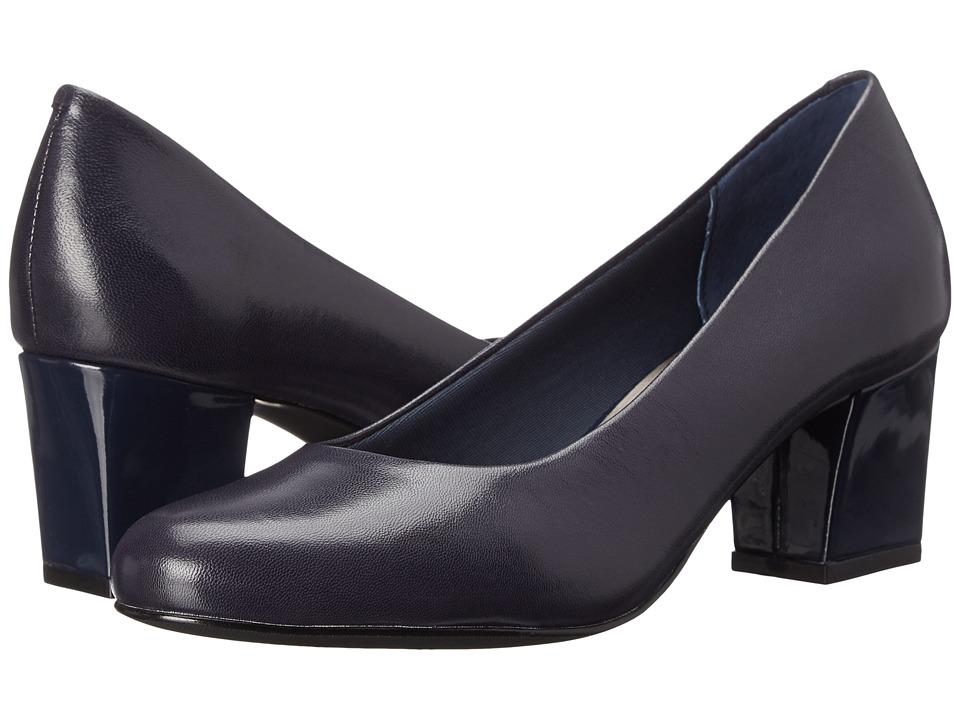 Trotters - Candela (Navy Dress Kid Leather) High Heels