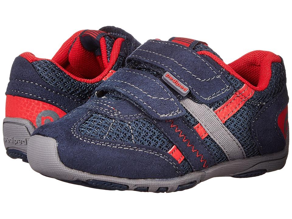 pediped Gehrig Flex (Toddler/Little Kid) (Navy) Boys Shoes