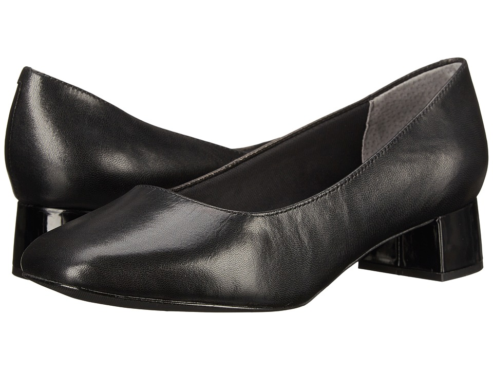 Trotters - Lola (Black Dress Kid Leather) Women's 1-2 inch heel Shoes