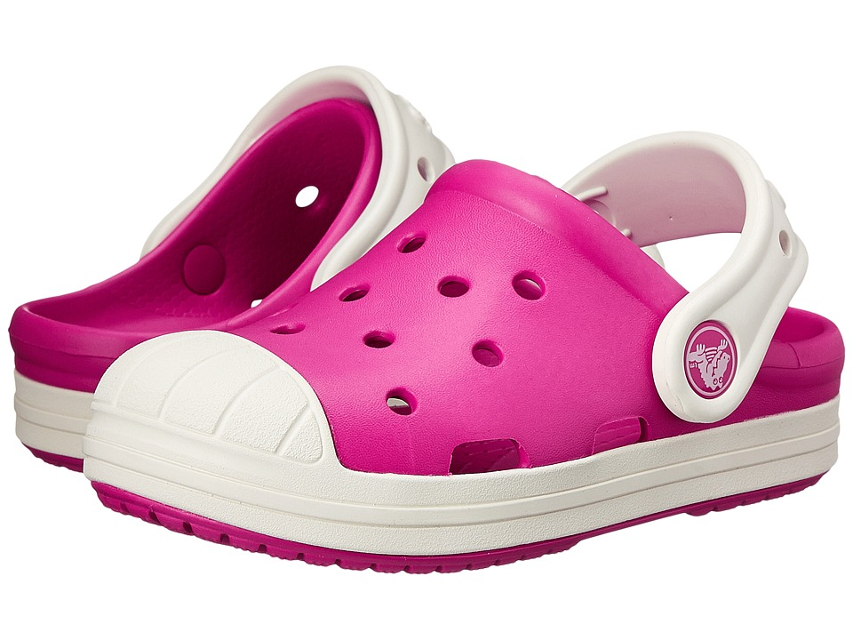 Crocs Kids Bump It Clog Toddler/Little Kid Candy Pink/Oyster Girls Shoes