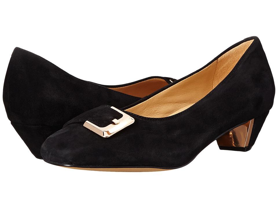 Trotters - Fancy (Black Kid Suede Leather) Women
