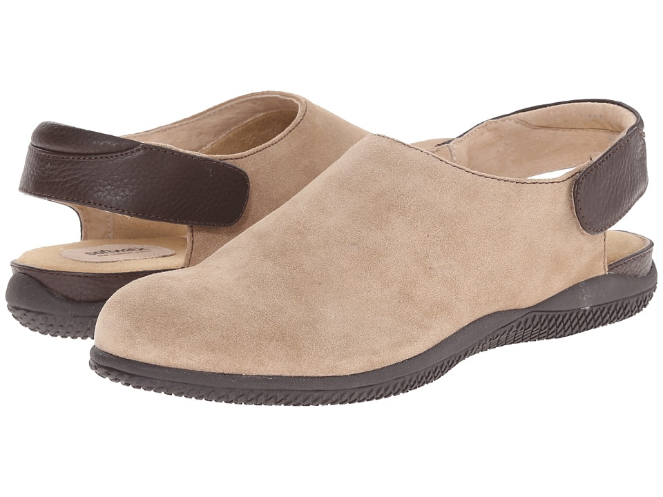 SoftWalk - Holland (Sand/Dark Brown Cow Suede Leather/Smooth Leather) Women