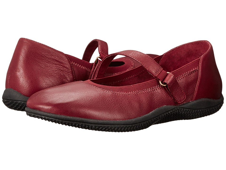 SoftWalk Hollis Dark Red Soft Tumbled Leather Womens Shoes