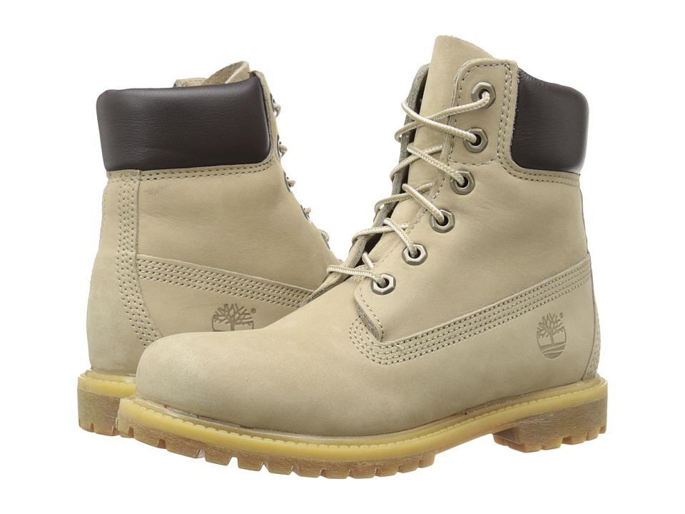 Timberland - Icon 6 Premium Boot (Off White Nubuck/Metallic Finish) Women