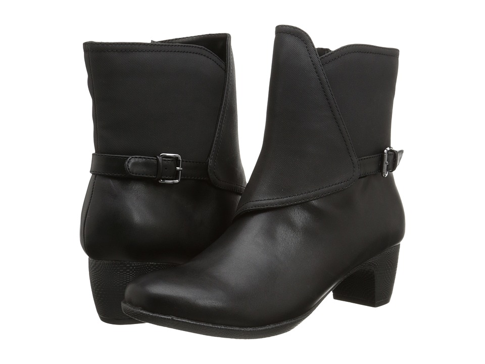 SoftWalk Puddles Black Smooth Man Made Leather Womens Boots