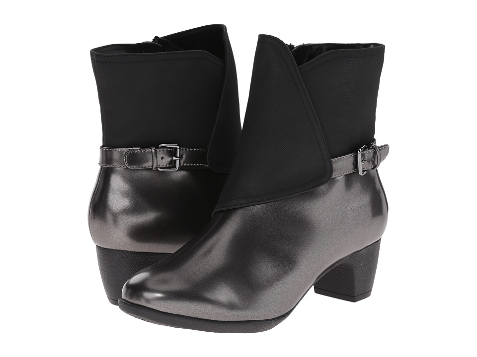 SoftWalk Puddles Graphite/Black Box Leather Man Made Womens Boots