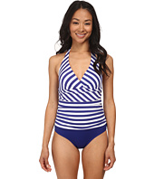 Jantzen - Harbour Beauty Stripe V-Neck Halter One Piece