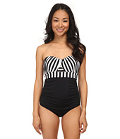 Jantzen - Harbour Beauty Stripe Wrap Up Bandeau One Piece