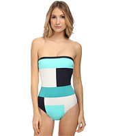 Kate Spade New York - Mykonos Color Block Bandeau Maillot w/ Removable Soft Cups & Strap