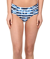 Seafolly - Inked Stripe Ruched Side Retro Bottom