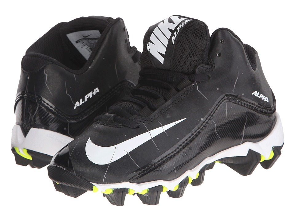 Nike Kids - Alpha Shark 2 BG Wide Football (Toddler/Little Kid/Big Kid) (Black/Anthracite/White) Kids Shoes