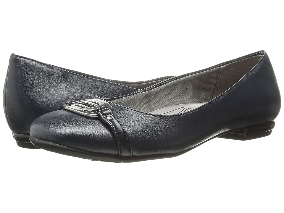 LifeStride Blissful Classic Navy Womens Slip on Dress Shoes