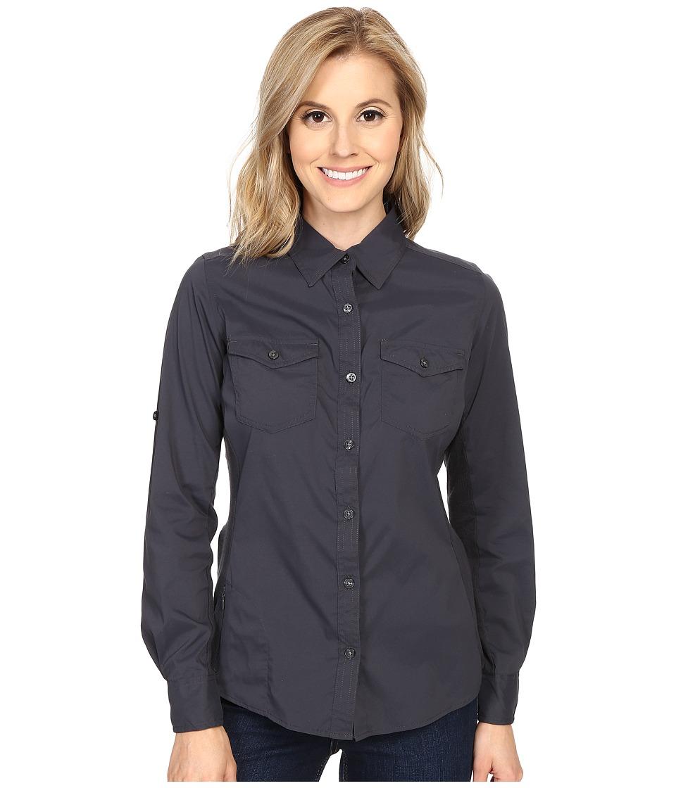 Marmot - Annika Long Sleeve (Dark Steel) Womens Long Sleeve Pullover