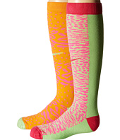 Nike Kids - 2-Pair Pack Graphic Cotton Knee High (Toddler/Little Kid/Big Kid)