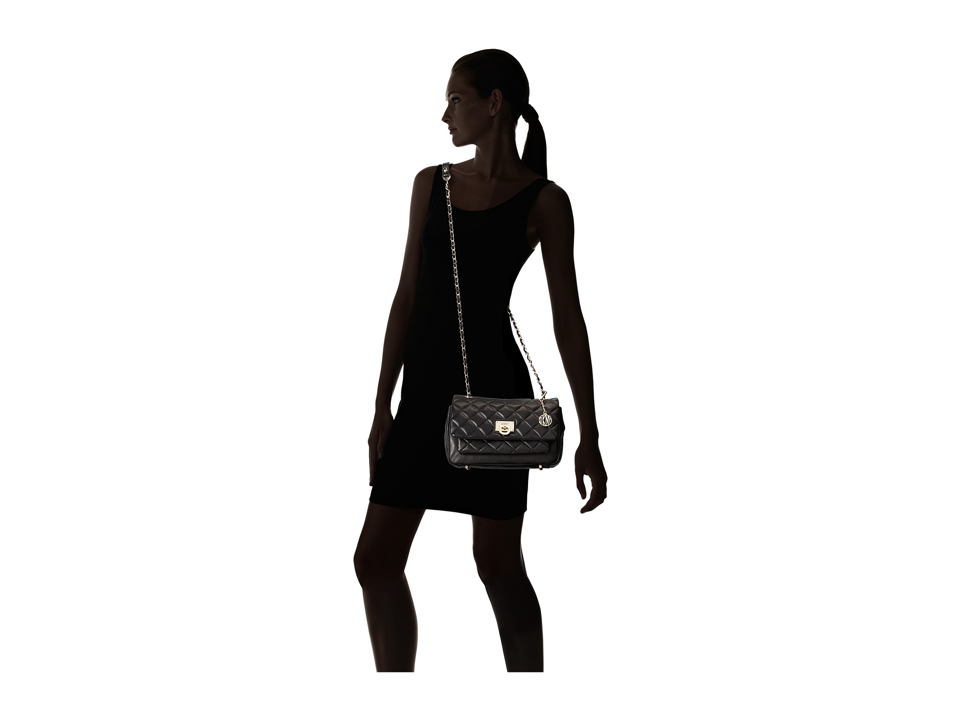 Dkny Quilted Nappa Flap Shoulder Bag 39