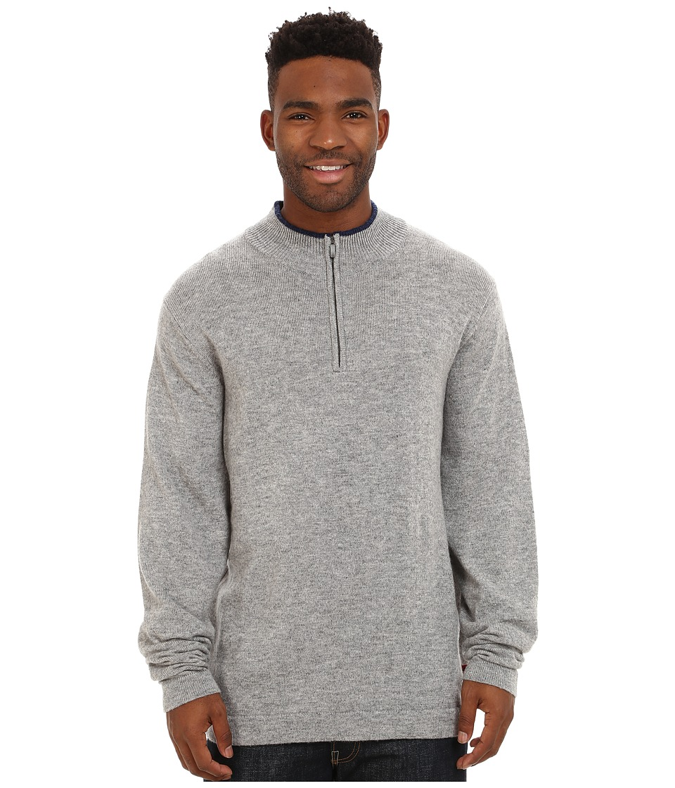 Mountain Khakis Lodge Qtr Zip Sweater (Heather Grey) Men