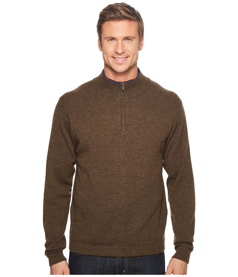 Mountain Khakis - Lodge Qtr Zip Sweater (Coffee) Mens Sweater