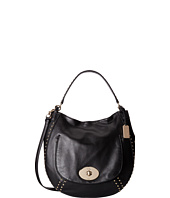 COACH - Studded Leather Circle Hobo