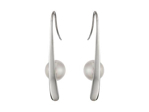 Majorica Rain Earrings - Silver/White